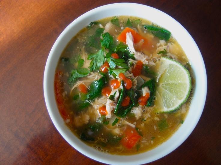 Thai Chicken Soup   Recipes   Pinterest