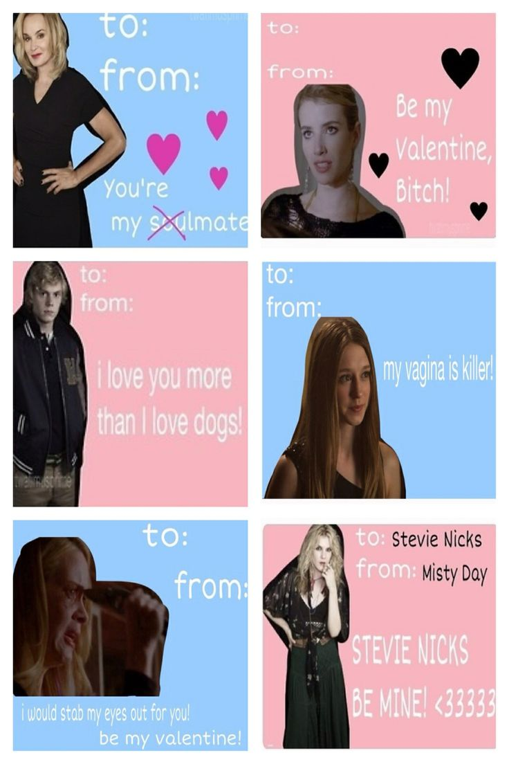 horror valentines day cards