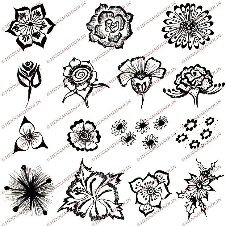 Mehndi Like Flowers : Easy henna flower designs indain pinterest