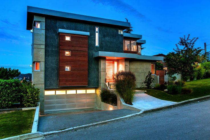 Pin by jay mcinnes on vancouver modern house at 3608 for Modern house plans 3 car garage