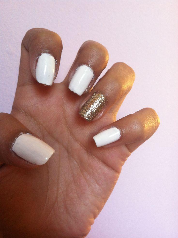 gold almond nails tumblr