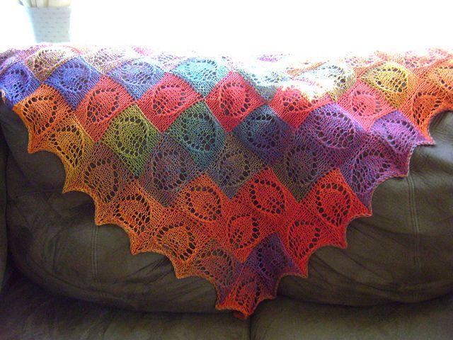 Knitting Pattern For Entrelac Shawl : Entrelac Shawl, Free Pattern Yarnecessory Pinterest