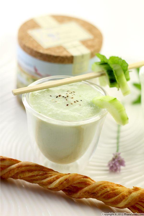Cucumber Soup Recipe | Pran Plezi | Pinterest