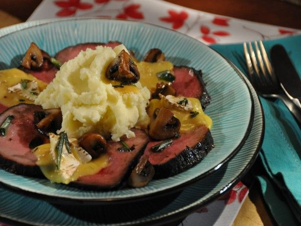 Marinated Roast Beef, Mashed Potatoes, Sauteed Mushrooms, Baked ...