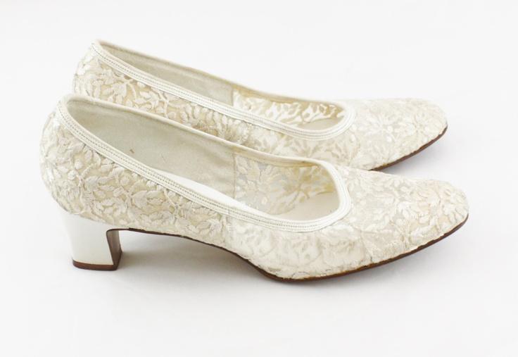 Airstep Cream Vintage Wedding Bride Shoes GBP4500 Via Etsy