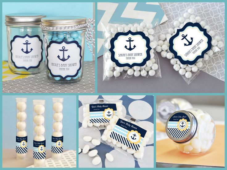 Nautical Baby Shower Candy Container from HotRef.com