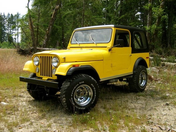 1976 jeep cj7 v8 in yellow red yellow pinterest. Black Bedroom Furniture Sets. Home Design Ideas