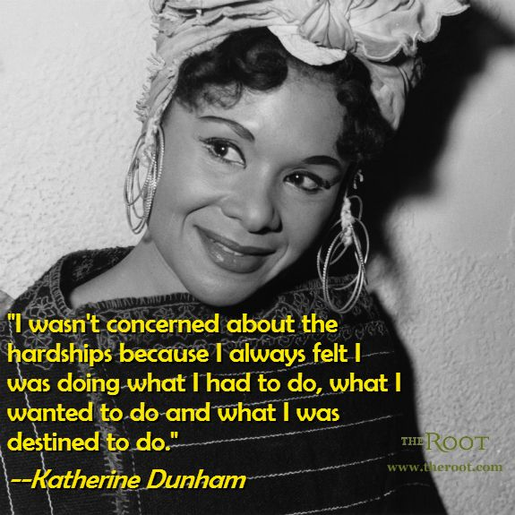 quotes by katherine dunham like success