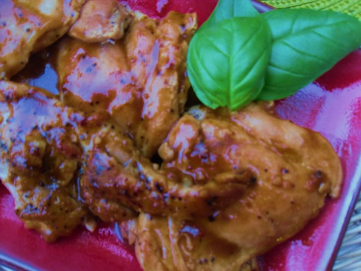 Easy, Savory Peach (or Apricot) Balsamic Glazed Chicken Thighs ...