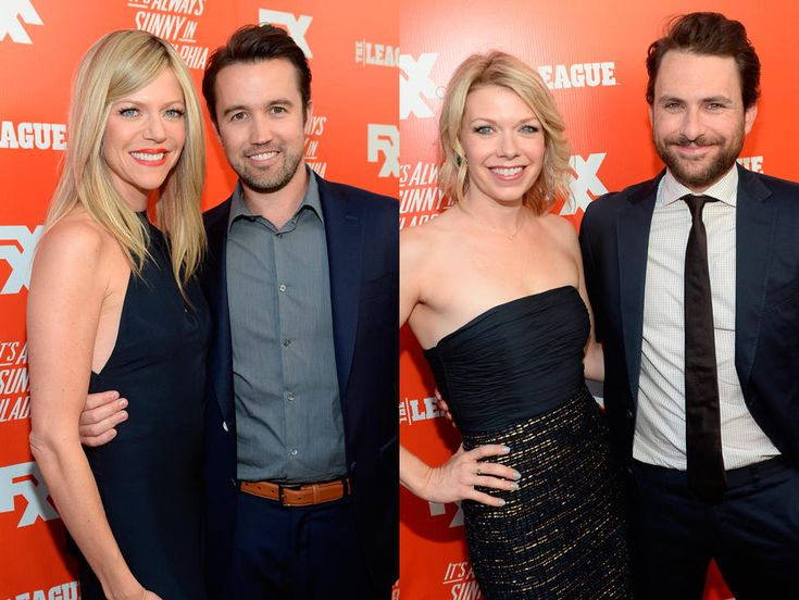 Rob McElhenney And Kaitlin Olson Charlie Day And Mary