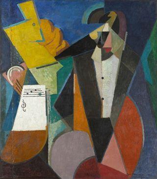 """Albert Gleizes, """"Portrait of Igor Stravinsky,"""" 1914, The Museum of Modern Art, NY"""