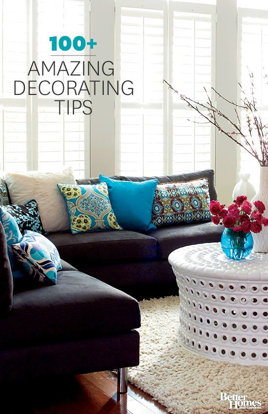 Hundreds of amazing decorating tips and ideas. We have the best home decorating ideas, do-it-yourself projects, paint-color help, window treatment tips, and small-space solutions for your bedroom, bathroom, and
