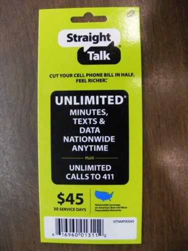 straight talk refill cards +ebay