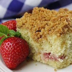 buttermilk mango berry crumb cake. it's in the oven now! if the cake ...