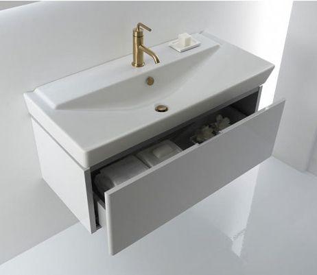 Kohler Wall Hung Lavatory : kohler reve wall-hung sink with drawer Bathroom remodel Pinterest