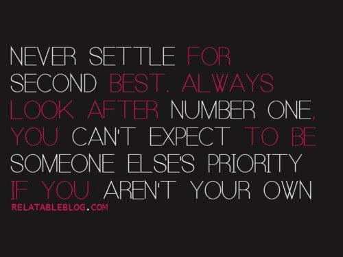 Quotes about settling for second best