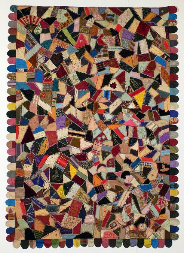 Crazy Quilt Pattern Images : Vintage American crazy quilt circa 1900s Crafty bitch :) Pinterest