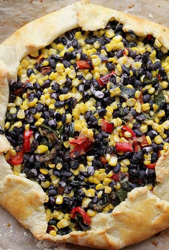 Roasted Corn, Poblano, and Red Pepper Galette (GIVEAWAY) | Recipe