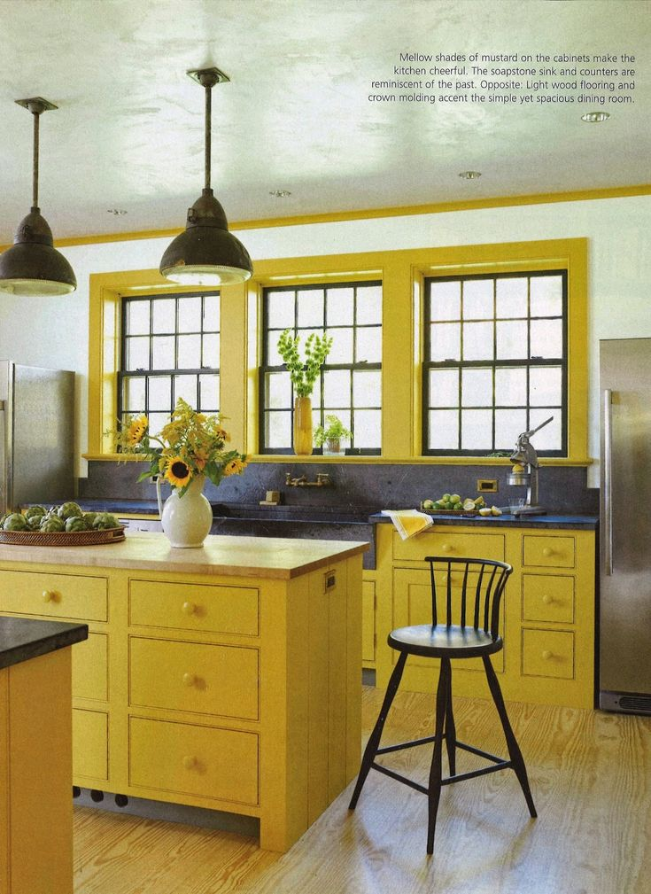 yellow kitchen cabinets and window trim paint it yellow