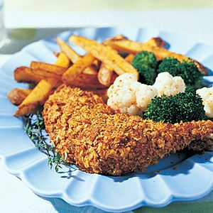 fried Chicken | Oven-fried Chicken Oven-frying in a cornflake-and-herb ...