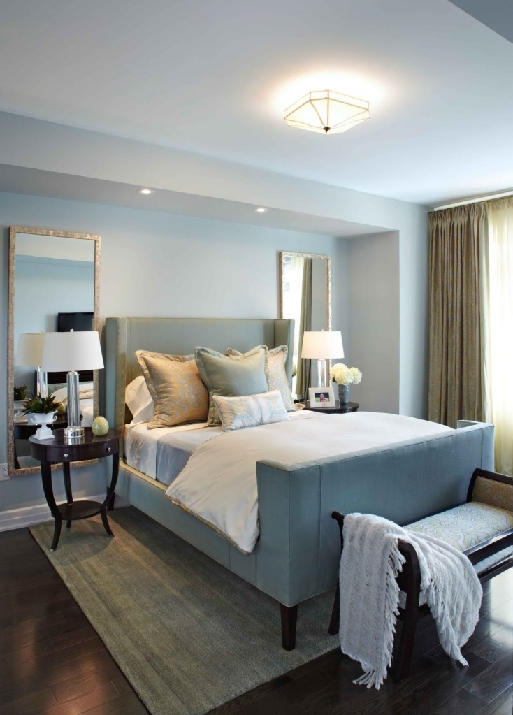 tall mirrors behind night stands master bedroom pinterest