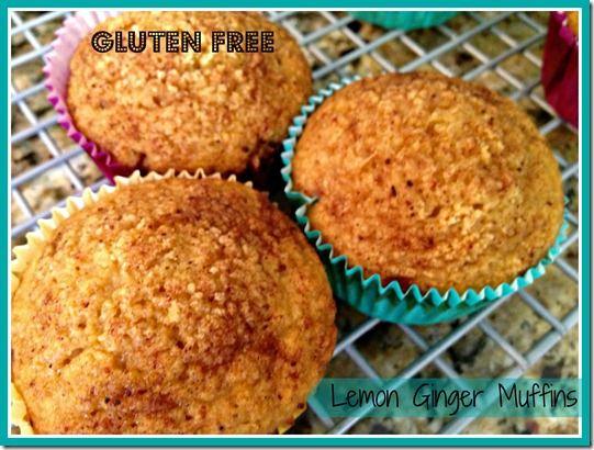 Gluten Free Lemon Ginger Muffins | Gluten Free Recipes | Pinterest