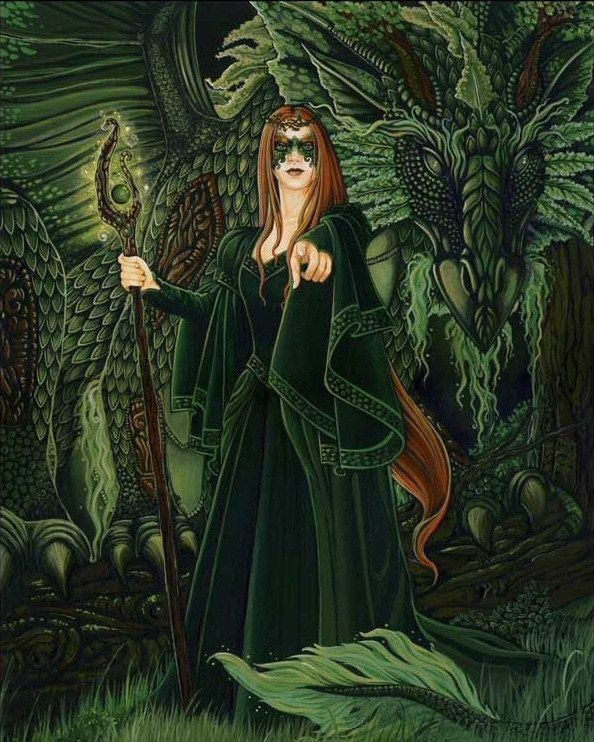Green dragon and mistr... Yule Fairy