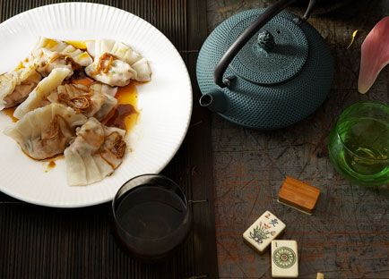 Chinese New Year recipe for poached pork and garlic chive dumplings ...