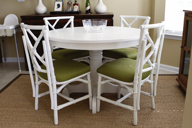 white bamboo painted furniture