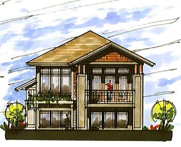 Coastal home plans lakefront craftsman design - Modern waterfront house plans ...