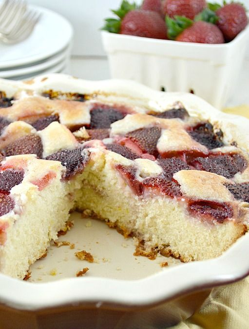 Strawberry Summer Cake | Food | Pinterest