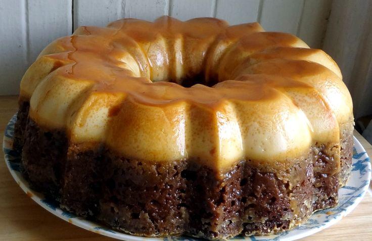 Choco Flan Cake Receta