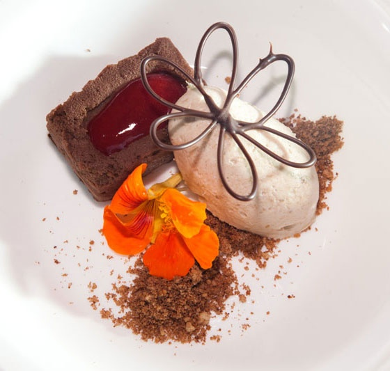 Peanut butter mousse with Ragged Rock rum–banana semifreddo - May 31 ...