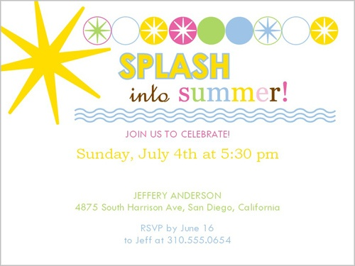 Summer Party Invitations for beautiful invitations template