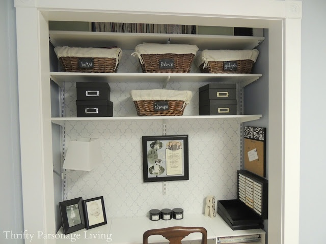 Ikea Aspelund Wardrobe Extra Shelves ~ closet to small office space LOVE IT!  For the Home  Pinterest