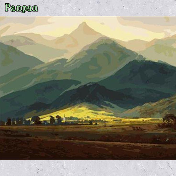 Раскраски по номерам на холсте горы