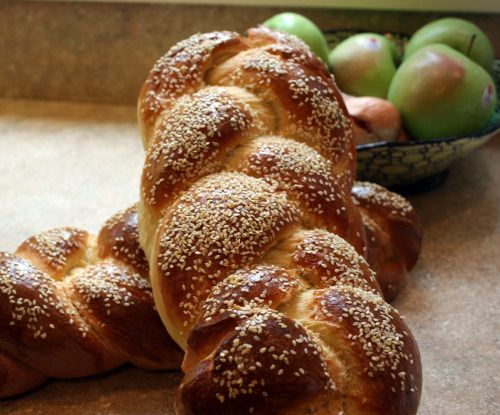 ... seed-topped, timelessly lovely Braided Bread. #food #bread #baking