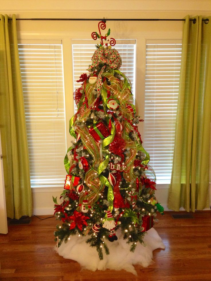 red and green christmas tree christmas pinterest