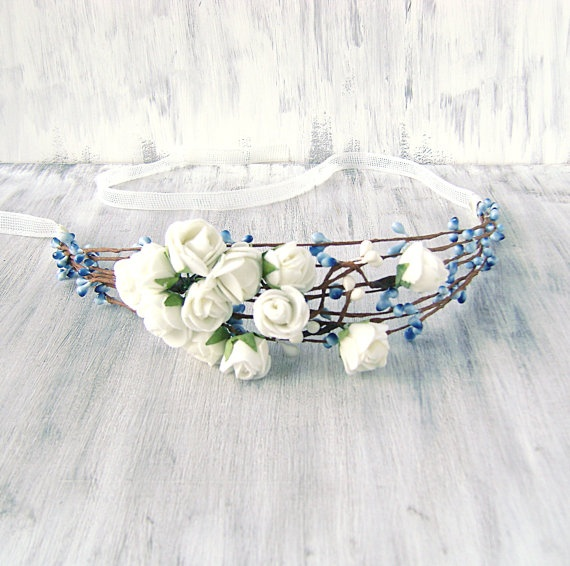coach outlet canada online Something Blue Crown Whimsical Flower Crown Bridal Wreath Bridal h