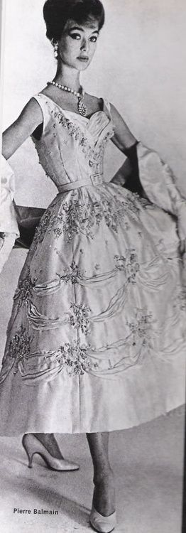 1950's Beaded Evening Gown