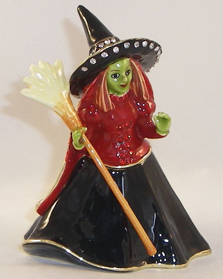wizard of oz wicked witch hinged music box
