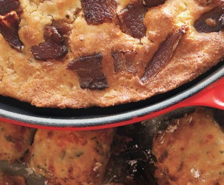 Cornbread with Bacon Crust Recipe | Epicurious.com - Crumbled bacon ...