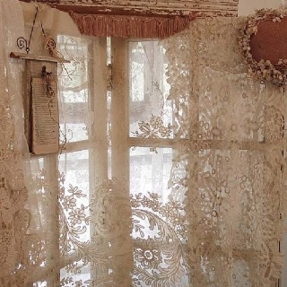 Beautiful Lace Curtains French Country Pinterest