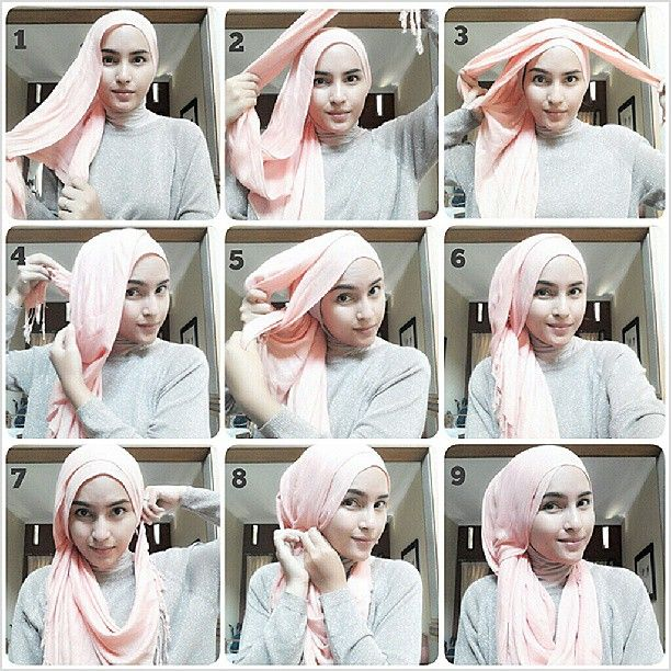 Tutorial for Big Long Square Hijab Shawl