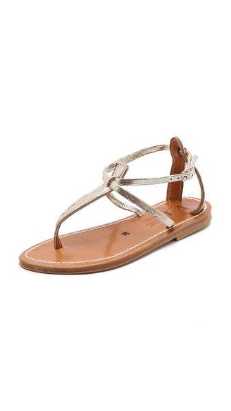 Gold sandals.