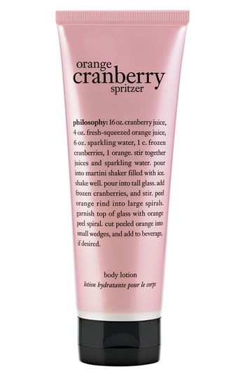 philosophy 'orange cranberry spritzer' body lotion (Nordstrom ...