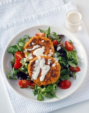Chickpea Burgers with Tahini Sauce by includingcake #Carrot #Chickpea ...