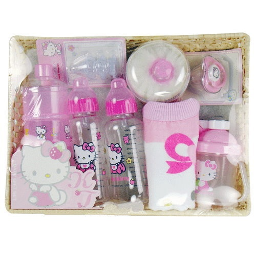 Hello Kitty Baby Gift Sets : Hello kitty assorted baby feeding bottle gift set