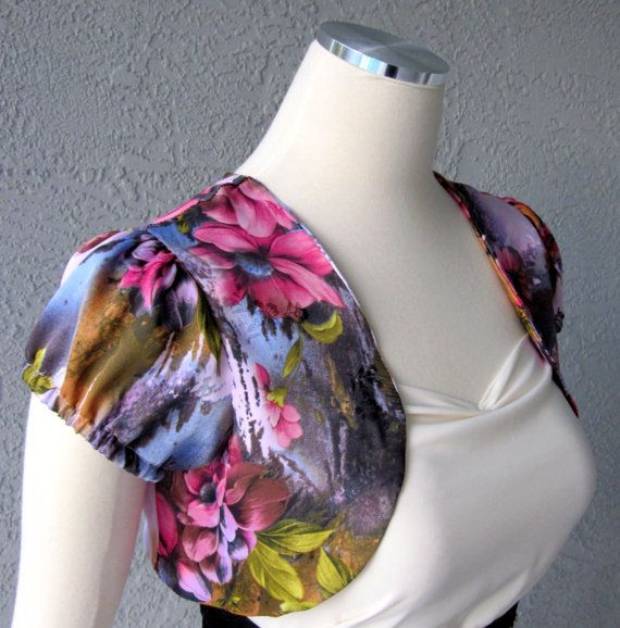 Floral  Print Bolero Shrug Made to Order by Chuletindesigns, $48.00