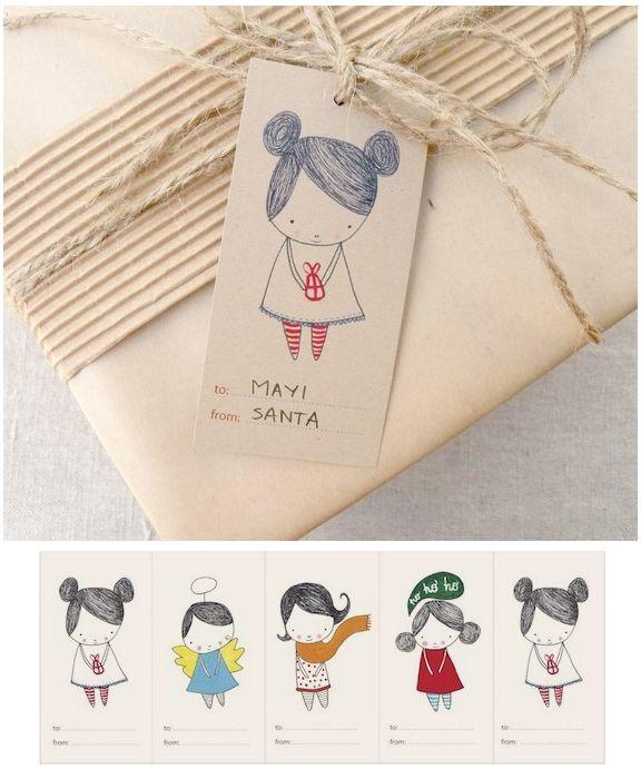 SO CUTE!!! Free printable gift tags.